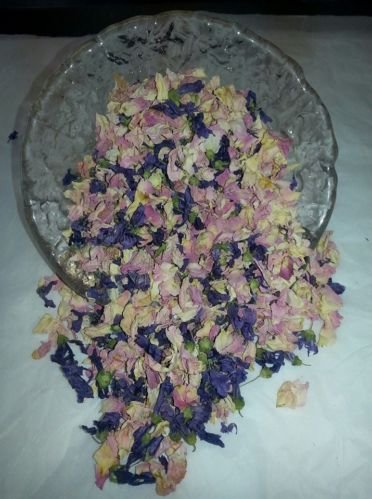 Biologisch abbaubar Getrocknete Rosenblätter-Pastell Rosa & Violett Mix 50g (Echte Blume Hochzeit Konfetti) Home Duft/Crafts - Getrocknete Rosa Rosenblätter