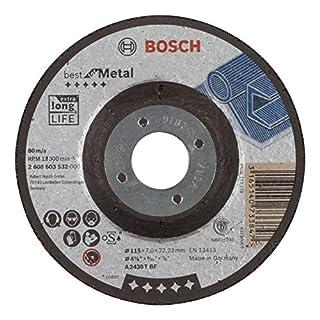 Bosch Professional Schruppscheibe gekröpft Best für Metal A 2430 T BF, 115 mm, 22,23 mm, 7 mm, 2608603532