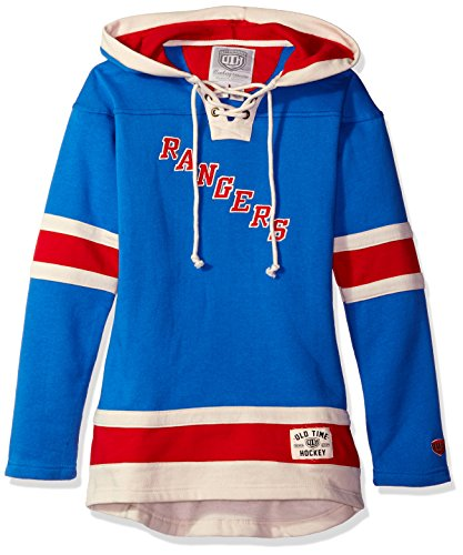 Old Time NHL Damen Heavyweight Hoodie, Damen, königsblau (York New Sweatshirt Times)