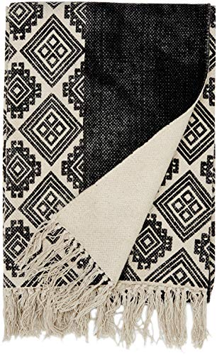 Sancarlos Mino Jarapa Alfombra, Algodón, Gris, 160 x 120 x 1 cm