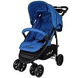 CROWN Kinderwagen Buggy Sport 360°-Rad - Farbe: Blau ST560