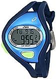 Asics CQAR0502 - Reloj digital de cuarzo unisex con correa de silicona, color azul