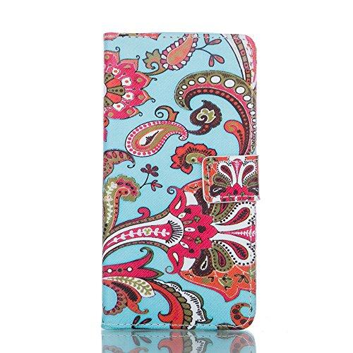 Coque pour Apple iPhone 5C,Housse en cuir pour Apple iPhone 5C,Ecoway Colorful imprimé étui en cuir PU Cuir Flip Magnétique Portefeuille Etui Housse de Protection Coque Étui Case Cover avec Stand Supp Abstract print