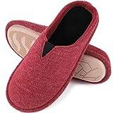 EverFoams Damen Memory Foam Hausschuhe, Pantoffeln mit Jersey Oberfläche, Winerot, 40/41 EU
