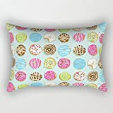 WENEOO LA Sweet Donuts Rectangle Throw Pillow Covers 20