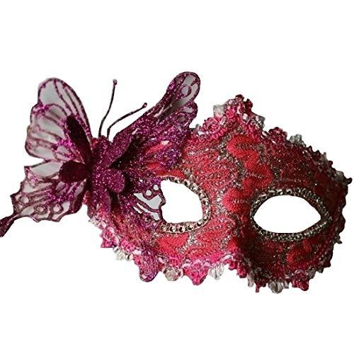 (YYF Half Face Prinzessin Maske Halloween Party Maskerade Kostüm (6-Farben))