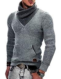 Indicode Homme Pull à Capuche tricot Pullover Sweatshirt Dane 35-114