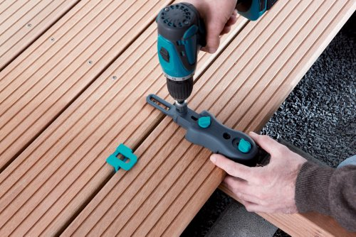 wolfcraft Terrassenbau-Set 6988000 | 10-teiliges Werkzeug Komplett-Set für eine schnelle und präzise Terrassenmontage | Ideal für Heim- & Handwerker