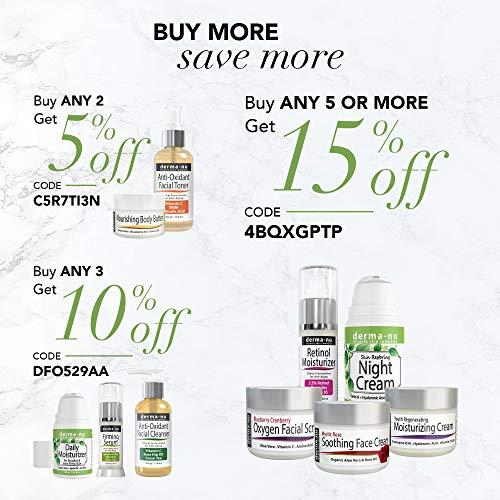 Retinol Serum 2,5% mit Hyaluronsäure Serum & Vitamin E von Derma-nu – beste Antialterung Serum für feine Linien und Fältchen – klinisch bewährte Haut Behandlung für das Gesicht – Garantiert 100% – 1,25oz Flasche - 6