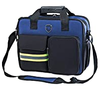HGWDE Professional Power Tool Shoulder Bag,Reflective Stripe Tool Storage HandBag Multifunction Function Technician Bag Sturdy Bottom (Color : Blue, Size : One size)