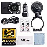Brain Freezer SJCAM SJDASH WIFI 140 Degree Wide Angle Dashcam Smart Car DVR Novatek NT96658 1080P 3.0 inch-2.4GHz WiFi Wireless Connection (Black)