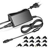KFD 65W Chargeur Universel pour Ordinateur Portable ASUS Acer Sony Fujitsu Toshiba Fujitsu NEC HP/Compaq Dell IBM/Lenovo Samsung LG Medion Adaptateur Alimentations Secteur avec 13 Embouts