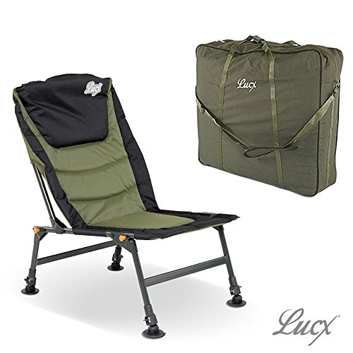 Lucx® Set / Angelstuhl Like a Throne / Karpfenstuhl / Carp Chair + Chair Bag / Tragetasche / Transporttasche für Stuhl