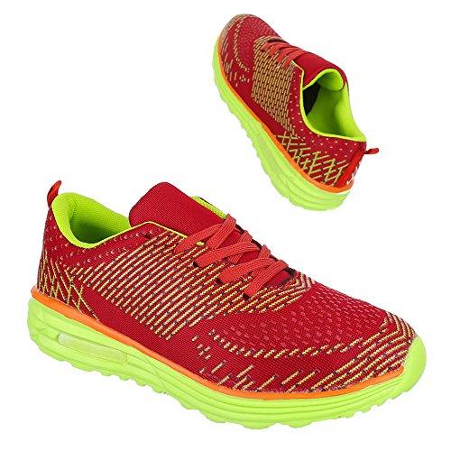 Ital-Design, Sneaker donna Rosso (Rosso/Giallo)
