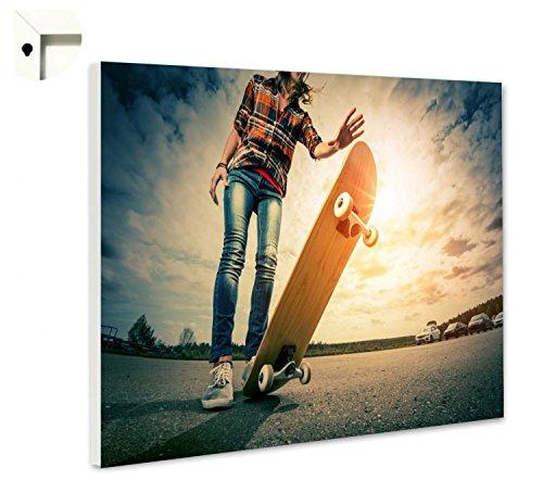 B-wie-Bilder.de Magnettafel Pinnwand mit Motiv Skateboard Skater 1 Größe 60 x 40 cm