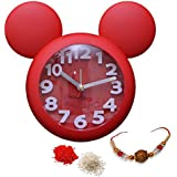 Sky Trends Mickey Mouse Alarm Clock / Children Room Clock / Decorative Mickey Mouse Clock For Kids / Designer Decorative Latest Design Mickey Mouse Clock Rakshabandhan Gift For Brother And Sister, Rakhi Gift For Brother And Sister-02