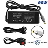ANTIEE 20V 4.5A 90W AC Adapter Charger/Power Cord Supply for IBM Lenovo ThinkPad T400 T410 T410i T400s T420 T420s T500 T510 X120e X200 X201 X220 X300 T60 Z61 X60 R60 Z60 Z60M Z60T 3000 C100 N100 V10