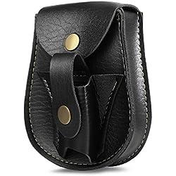 runacc caza catapulta cinturón al aire libre SLING Shots catapultas de piel sintética riñonera bolsa de cintura, color marrón, negro