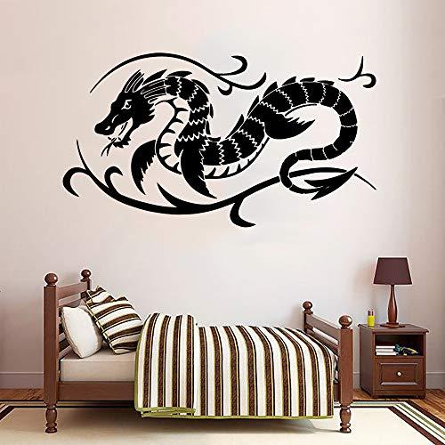 BailongXiao Art Dragon Home Decoration Abnehmbare Wandaufkleber Kinderzimmer Wandbild Schlafzimmer Wandbild Vinyl Vinyl 50x90 cm