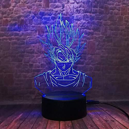 Monkey 7 Color Touch 3D Tischlampe/Nachtlicht/Dragon Ball/Super Son Goku Monkey/LED Birne Home Bar Dekoration/Neujahr Geburtstagsgeschenke/LED Nachtlichter -