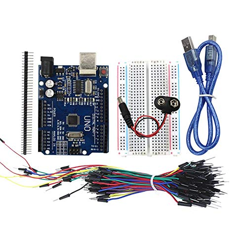 Yao Arduino UNO Starter Kit 400 Point Breadboard 65 Jumpers USB & Battery Cables Batterie-jumper
