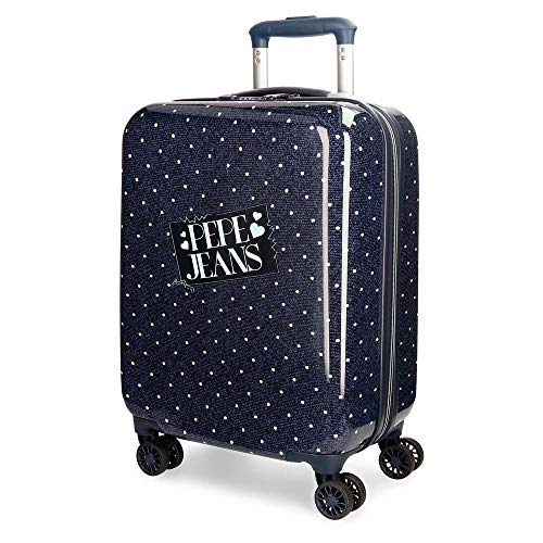 Pepe Jeans Olaia Blue Rigid Cabin Trolley