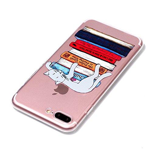 iPhone 7 Plus Hülle, Voguecase Silikon Schutzhülle / Case / Cover / Hülle / TPU Gel Skin für Apple iPhone 7 Plus/iPhone 8 Plus 5.5(Viele Katzen 08) + Gratis Universal Eingabestift Asleep Cat 01