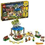 LEGO Creator GiostradelLunaPark 3 in 1, Avventure al Parco Giochi, Giostra a Tema Spaziale, 31095 LEGO