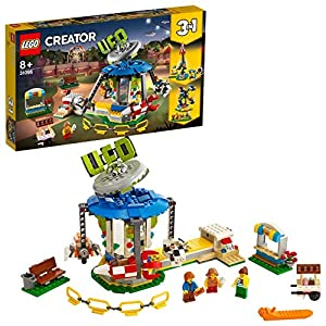 LEGO Creator 3in1 31095 Giostra del Luna Park; Set di Costruzione 3in1 con Giostra del Luna Park, Caduta Libera e Ruota…  LEGO