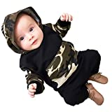 Covermason - Felpa con Cappuccio - Bebè Maschietto Verde Militare 70 cm