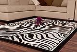 Bavaria Home Style Collection Wohnzimmerteppich/Teppich / Wohnteppich Modell Africa Zebra/in verschiedenen Größen erhältlich (160cm x 230cm)