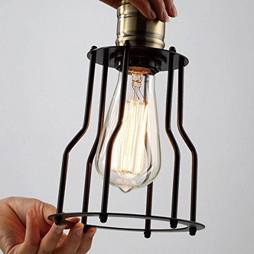 BAYCHEER 6 Flammige DIY Industrielampe Hängeleuchte Höhenverstellbar mit Käfig - 6