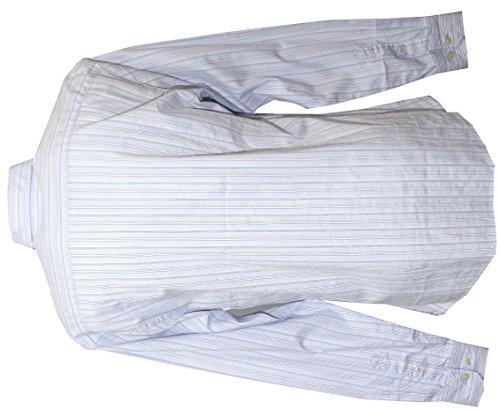 Kitaro, langarm Hemd, 191114, eisblau braun rot gestreift [8420] Eisblau
