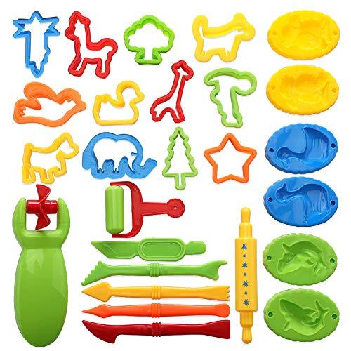 Soleebee Play Doh Kits 26 Piezas Herramientas Pasta