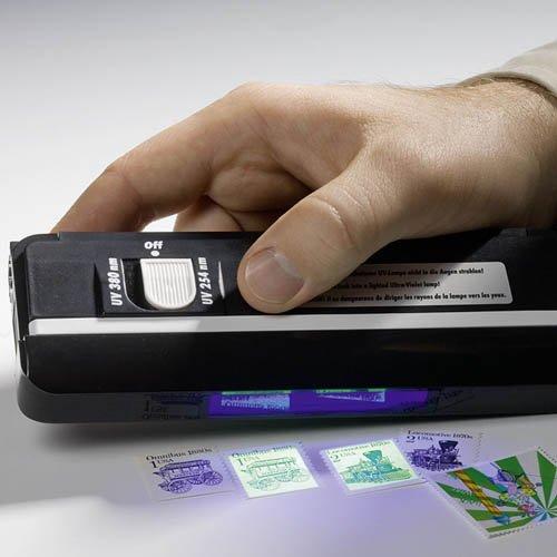 Preisvergleich Produktbild Ultraviolett-Doppel-Handlampe, zur Fluoreszenz und Phosphoreszens-Bestimmung