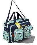 GMMH 2 tlg Wickeltasche 2170 Pflegetasche Windeltasche Babytasche Farbauswahl (blau)