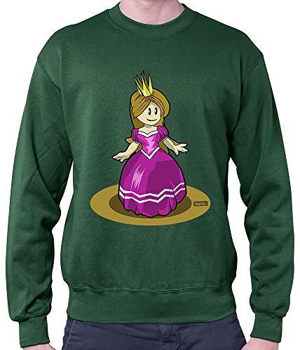 Kostüm Karte Dunkle - HARIZ Herren Pullover Prinzessin Tanzen Lachen Karneval Kostüm Inkl. Geschenk Karte Dunkel Grün L