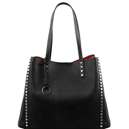 Tuscany Leather - TL Bag - Sac shopping en cuir souple - Noir