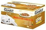 Gourmet Gold Zarte Häppchen mit Gemüse (Kalb, Ente, Forelle, Kaninchen) 4 x 85 g, Katzenfutter von Purina, 12er Pack (12 x 340 g)