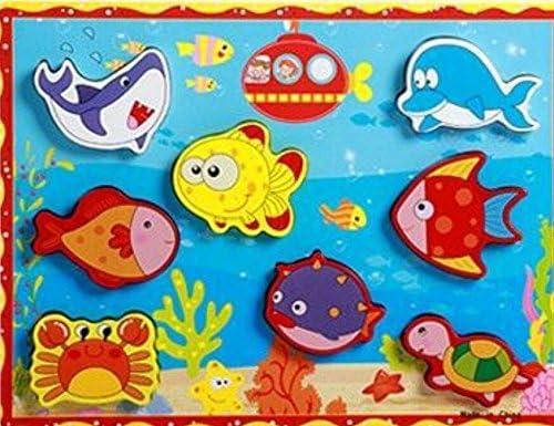 Jouets Jouets Jouets éducatifs de puzzle pour les enfants Belle en bois Conseil éducatif Puzzle Early Learning nombre formes couleur Animal Toy Fantastic cadeaux pour les enfants (Dauphin) B07K3VVQY3 354b4b