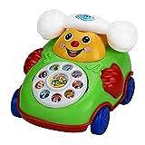 Pädagogische Spielwaren des Kindes, OIKAY Karikatur-Lächeln-Telefon-Auto-Entwicklungskinder-Spielzeug-Geschenk