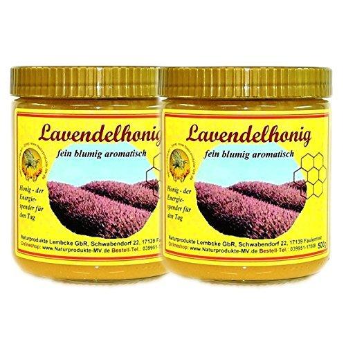 Lavendelhonig (2x500g) Stoechas Spanien Lavendel Honig
