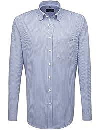 SEIDENSTICKER Herren Hemd Comfort 1/1-Arm, extra lang Bügelfrei Karo City-Hemd Button-Down-Kragen Kombimanschette weitenverstellbar