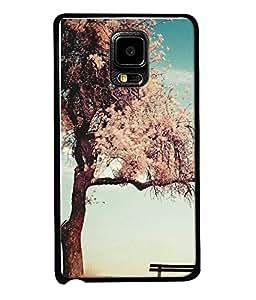 FUSON Designer Back Case Cover for Samsung Galaxy Note Edge :: Samsung Galaxy Note Edge N915Fy N915A N915T N915K/N915L/N915S N915G N915D (Tree Cartoon Birds Fly On Tree Crazy Love Couple)