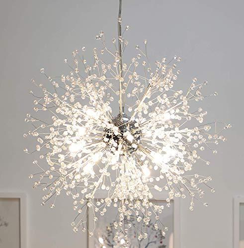 Kronleuchter Feuerwerk LED-Licht Edelstahl Kristall Anhänger Beleuchtung Deckenleuchten Kronleuchter Beleuchtung (Dia 23,5 Zoll)