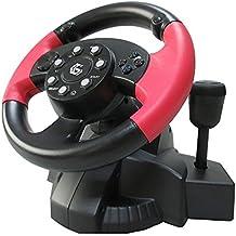 USB con Cable Volante y Pedales con Vibración y Palanca de Cambios / Volante de Carreras con Los Pedales Controlador / Para PC, DVD, PS3, PS2, Juegos / iCHOOSE