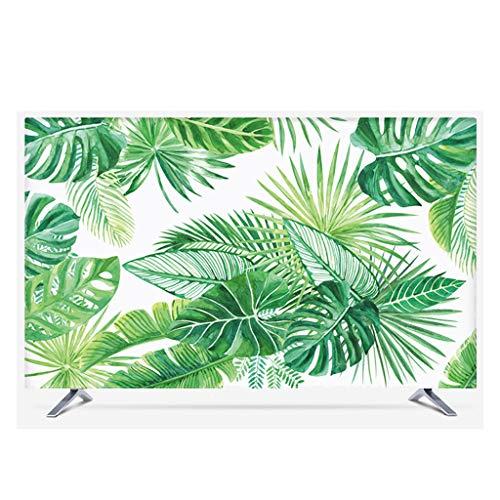 HBLZG Pflanze Blume Display Cover - Staubschutz PC Display Cabinet Display Schutzfolie Baumwollgewebe/Waschbar/Staub/Sonnenschutz/Kein Ausbleichen/All Inclusive Design-D-45Zoll - Cabinet Cover