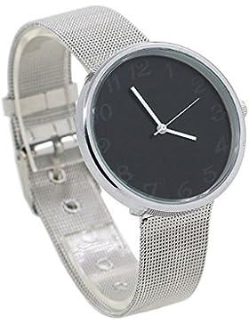 Minimalismus edelstahl Damen Uhr Fashion Analog Damenuhr Wrist Watch Schwarz