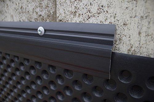 10 Meter Noppenbahn Halteleiste PVC Abdeckprofil Noppenfolie Schutzleiste PT6