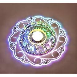 Luz de techo, Lámparas de techo de cristal LED, Iluminación empotrada Candelabros para vestíbulo, Estudio / Oficina, Comedor, Dormitorio, Sala de estar (color)